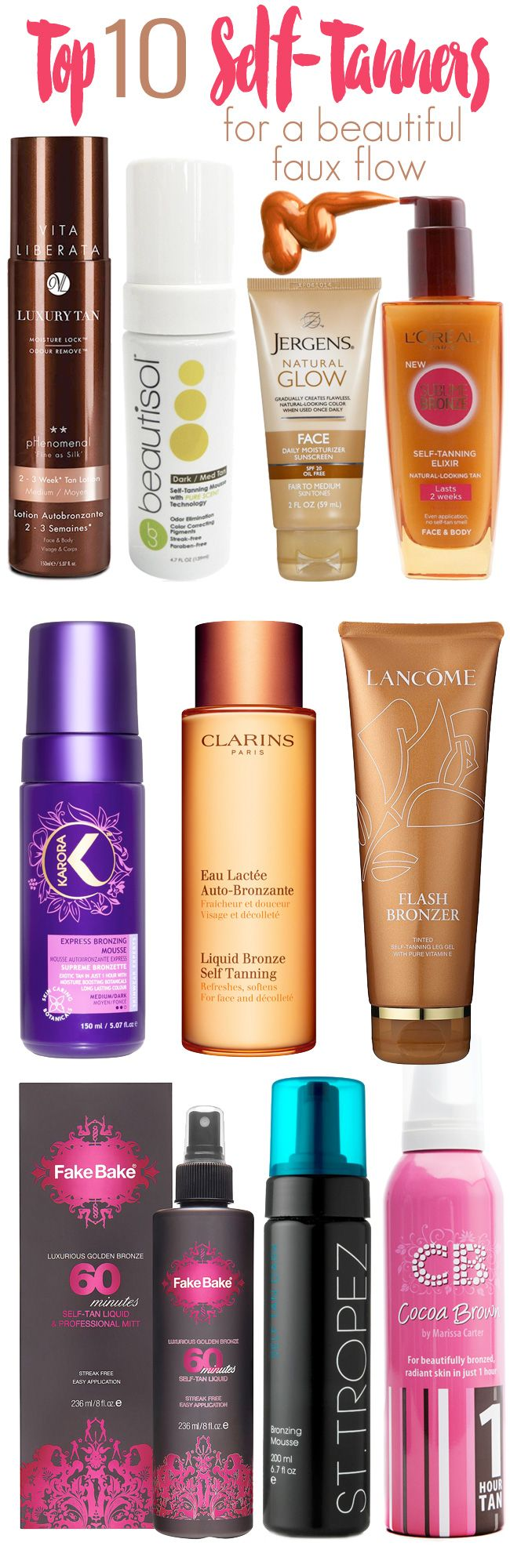 If you want a beautiful golden tan, there is only one safe way to get it  and that is with a self-tanner. There are a lot of great self-tanning  options available these days. From lotions and creams to mousses and  sprays, there is an option that will give you the beautiful faux glow you  want. What is so great about self-tanners on the market now is that they  are made to give you a more believable brown color that lasts longer and  most have special scent technology so that tell tale…