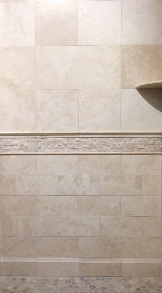 This durango installation features a 5x12 base 6x12 and for Bathroom ideas 5x12