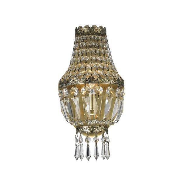 Metro Candelabra 1-light Antique Bronze Finish and Clear Crystal 6-inch Wide Small Traditional Wall Sconce