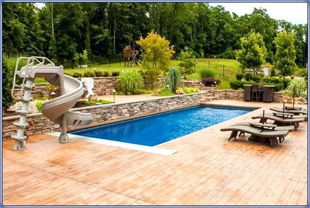 Inground Swimming Pool Patio Ideas Inground Swimming Pool Deck