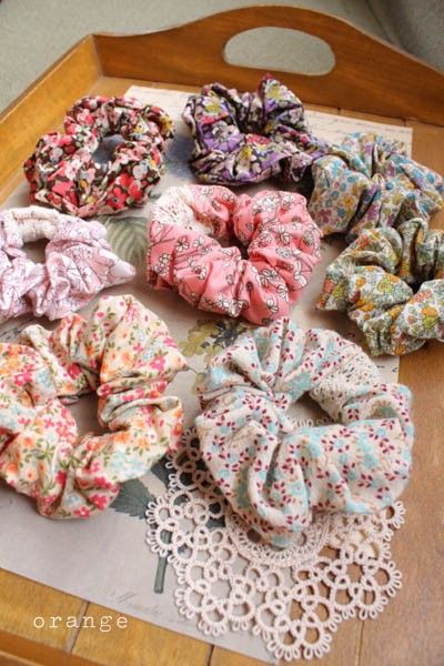 scrunchies. I used to wear them all the time!!!!