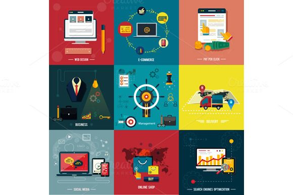 Check out Set icons for web design by robuart on Creative Market