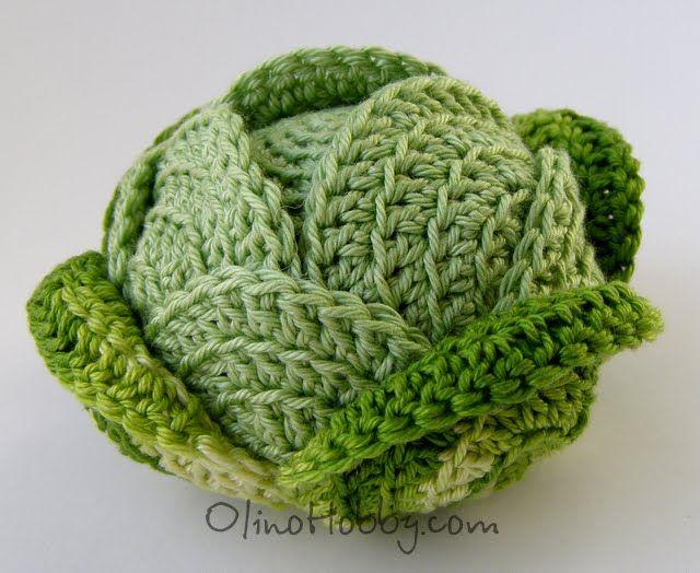 Crochet cabbage - isn`t it cute!