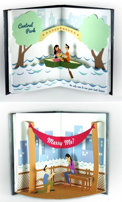 Love pop up books!!  How awesome is this??   Love pop up books!  A pop up proposal  http://shannoneileenblog.typepad.com/happiness-is/2012/04/a-pop-up-proposal.html