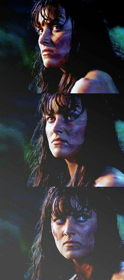 Xena after she survived the gauntlet.