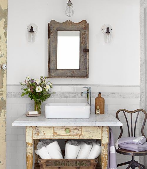 90 Inspiring Bathroom Decorating Ideas Brocante Vintage
