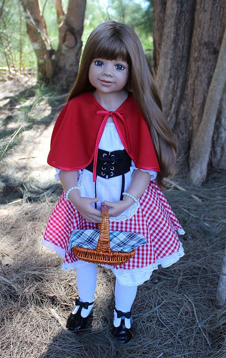 Dolls-Little Red Riding Hood-Lt Brown With Blue Eyes By Monika Levenig Collectible Doll