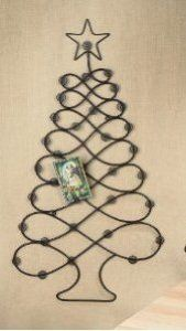 christmas cardphoto holder display tree wall hanger by sterling pear 1999