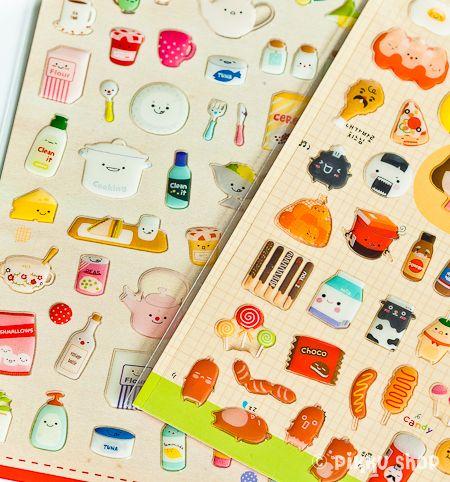 Kawaii Korean food stickers from Pikku Shop | www.pikku-shop.com