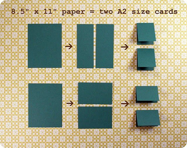 "Simple card making tip for beginners: pre-cut 8.5""x11"" into 2 A2 cards for a ready made card stash."