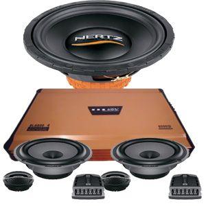 Hertz audio mobil untuk sound sistem di mobil. terdiri dari ampli ADS Speaker dan Subwoofer Hertz