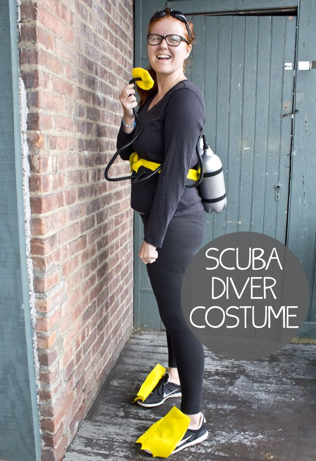 DIY Scuba Diver Costume with instructions
