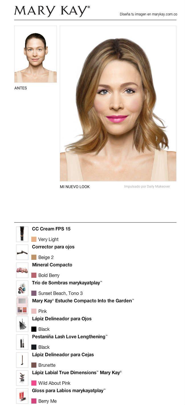 Acabo de crear un maravilloso look usando GRATIS la aplicación Maquillador Virtual Móvil de Mary Kay. ¡Pruébalo y compártelo con todas tus amigas!