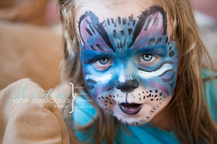facepainting blue /avatar/ cat