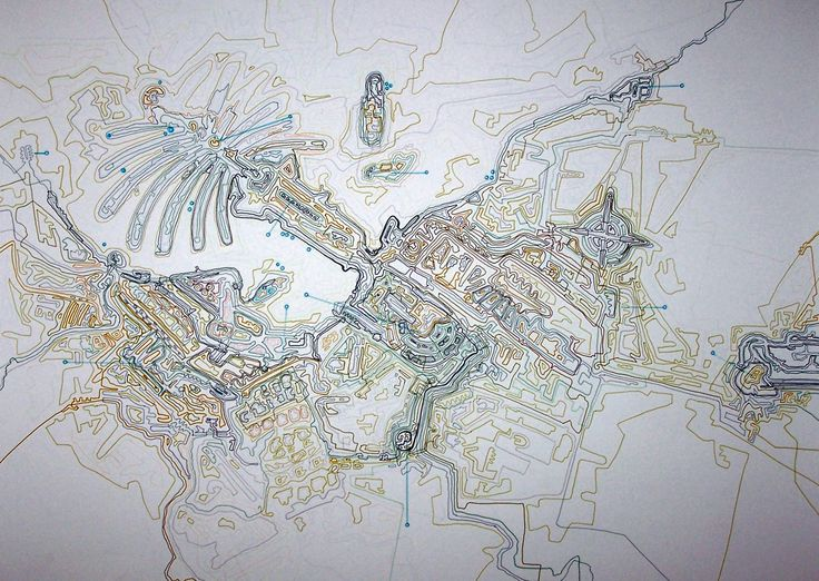 Giorgos Papadatos,  Corporate city map 5. Drawing. marker on paper.50X70 cm. 2007
