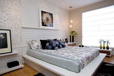 dormitório cabeceira cama diferente: Quartos Bedrooms, Quartos Decor, Dormitório Cabeceira, Rooms Dark-Blue