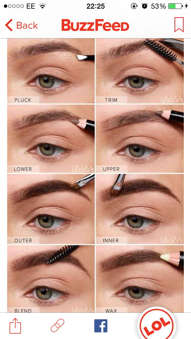 Eyebrow Tutorial: 25 Best Eyebrow: Fill In & Shaping Images On Pinterest