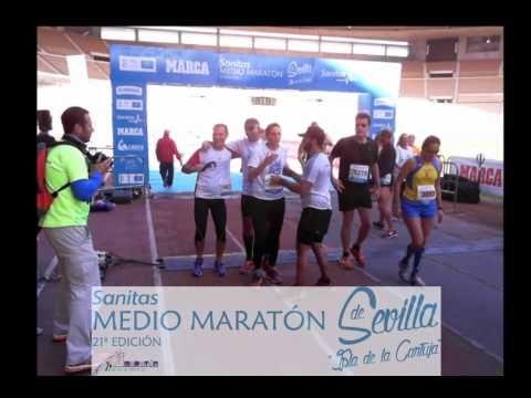 Meta media maratón Sanitas Sevilla 2016