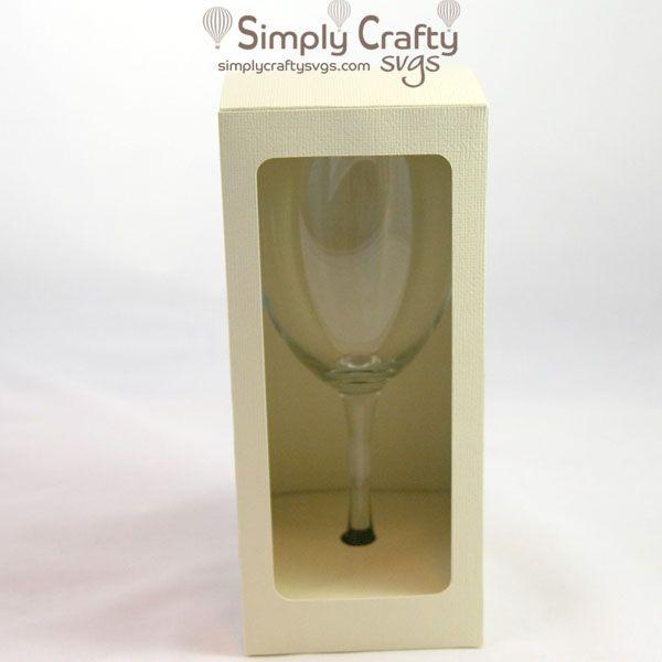 Square Wine Glass Box