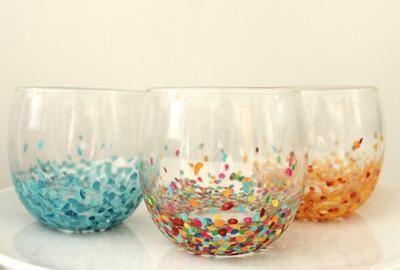 Bekijk de foto van schelpje met als titel oude glazen pimpen met nagellak of verf   en andere inspirerende plaatjes op Welke.nl.