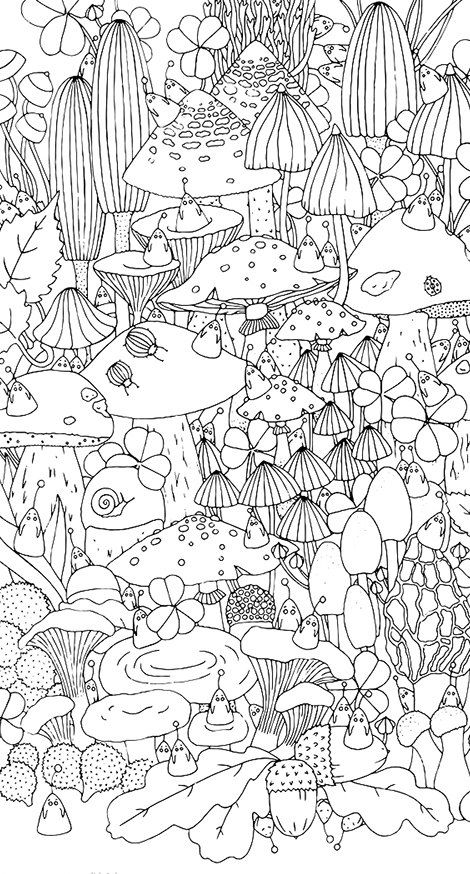 coloring pages of shrooms - photo#41