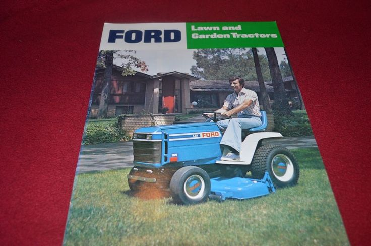 Ford Tractor Lawn & Garden Tractors For 1980 Dealer's Brochure YABE9