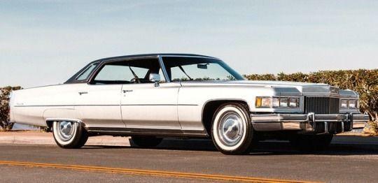 Beautiful 1975 Cadillac Sedan Deville. #Cadillacclassiccars