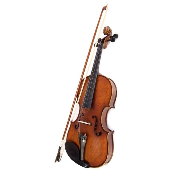 Archetto Antico Semi Acoustic Electric Violin Outfit ❤ liked on Polyvore featuring music, instruments, fillers, violin and accessories