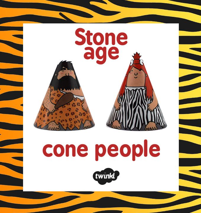 Stone Age Cone People - Twinkl