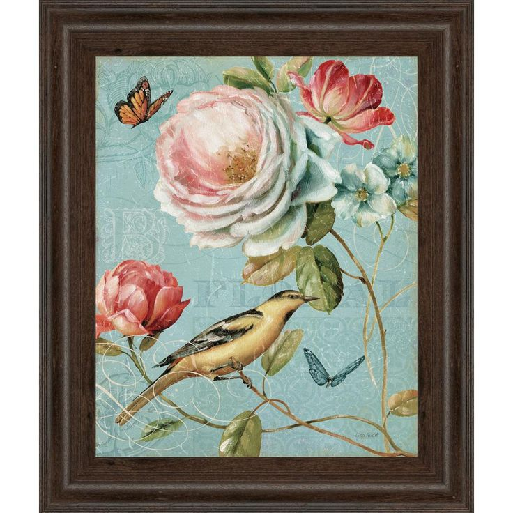 """22 in. x 26 in. """"Spring Romance II"""" by Lisa Audit Framed Printed Wall Art"""