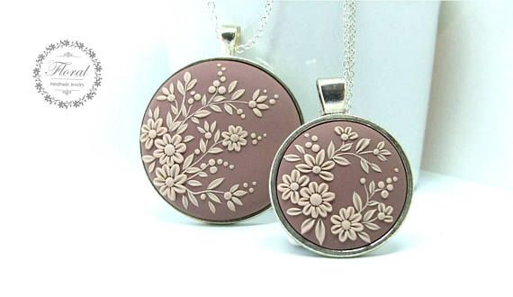 Mother Daughter Necklace Set Mom and Daughter Jewelry Flower