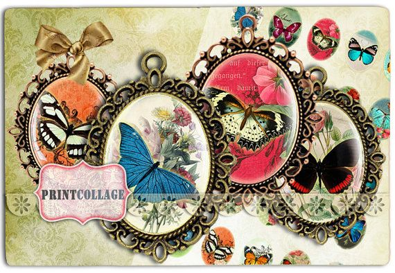 Digital Collage Printable Sheets by PrintCollage on Etsy, $4.30