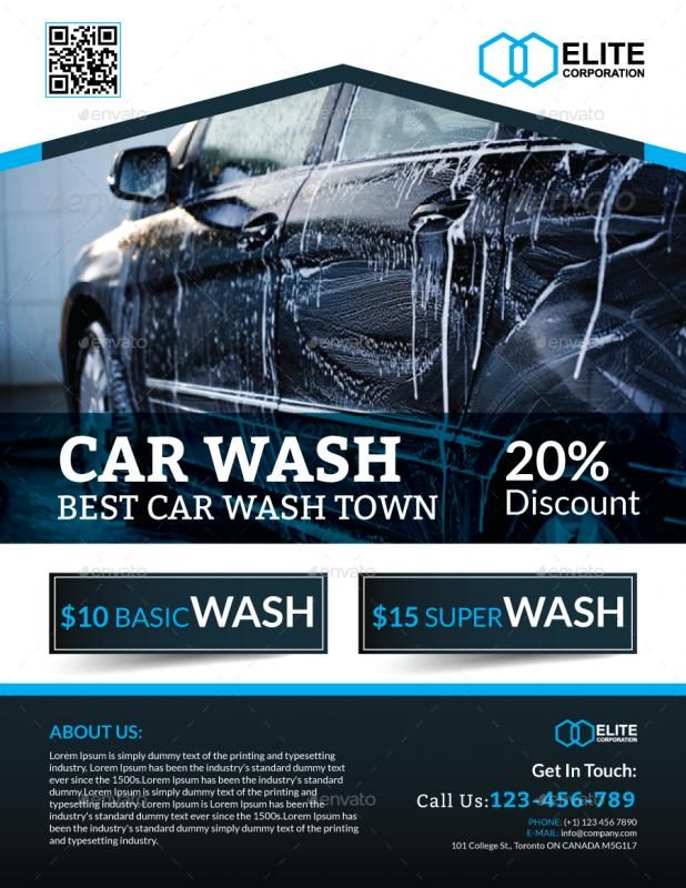 Car Wash Flyer template Car wash, Car detailing, Car brochure