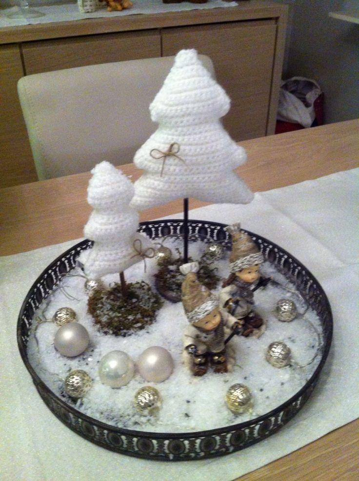 mijn eigen gehaakte kerstbomen