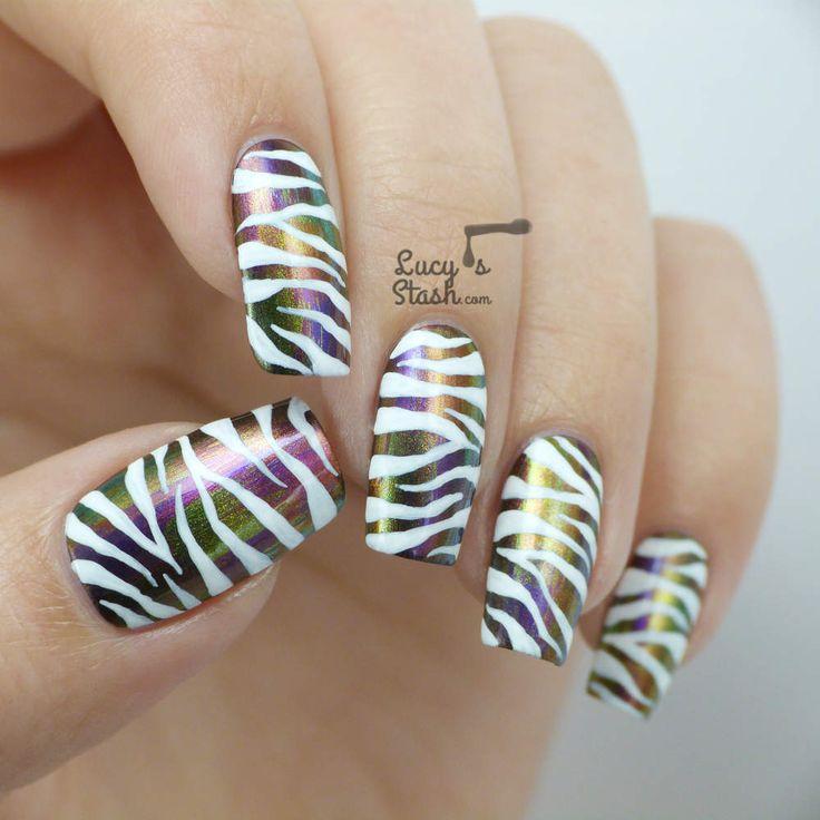 Best 25+ Zebra Print Nails Ideas On Pinterest