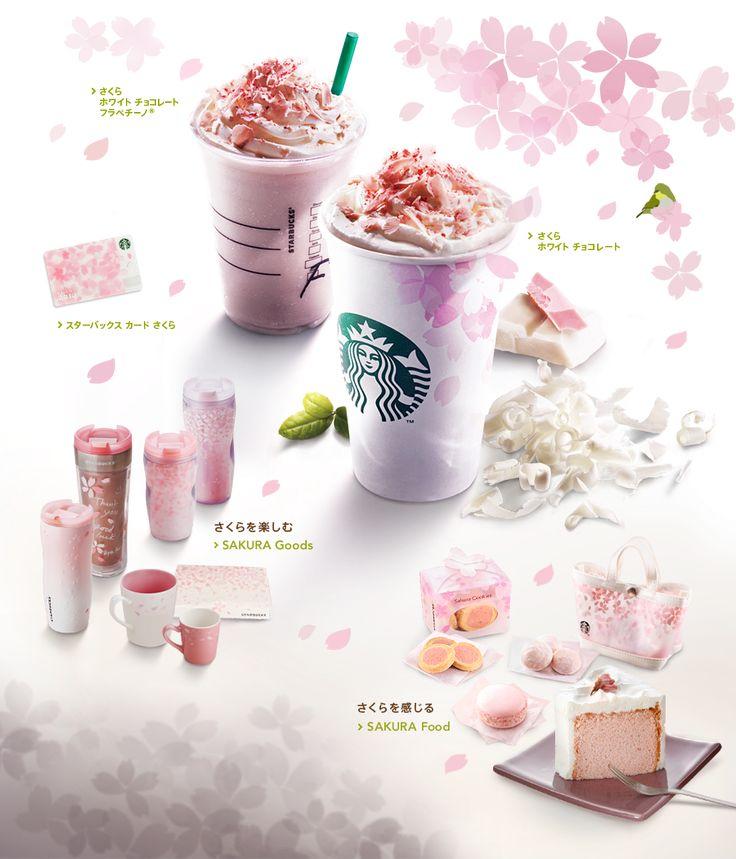 商品情報 |スターバックス コーヒー ジャパン...Sakura White Chocolate Frappuccino and Sakura White Chocolate