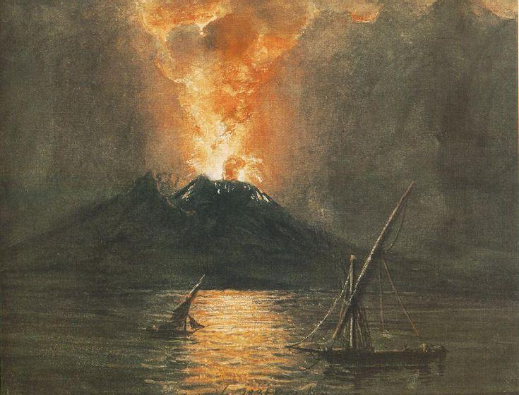 The Eruption of the Vesuv  by Miklós Barabás