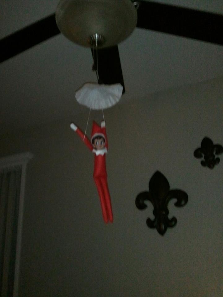 Ellie's attempt at parachuting, Elf on the shelf