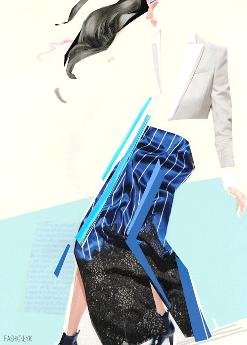 """Gif me all!"" fashion collage, fashionlyk 2016 by Karolina Niedzielska"