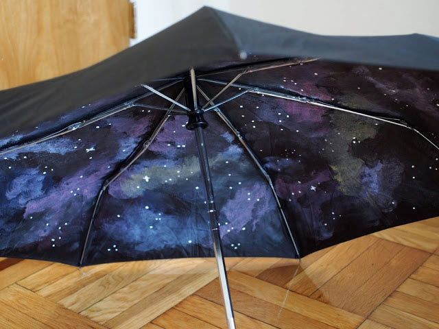 DIY Galaxy Crafts - DIY Galaxy Umbrella- Galaxy DIY Projects for Your Room, Gifts, Clothes. Ideas for Painting Jewelry, Shirts, Jar Ideas, Food and Makeup. Step by Step Tutorials for Teens, Tweens and Adults