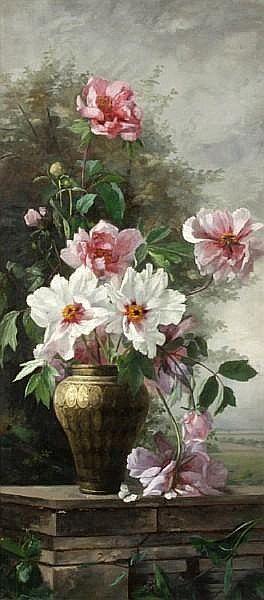 floralart.quenalbertini: Vase of flowers | Artist unknown