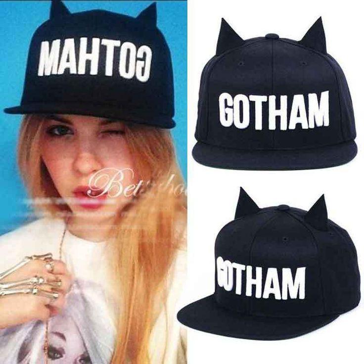New 2016 Fashion Men Womens Bones Gorras Snapbacks GOTHAM Little Devil Horns Ears Hip Hop Cap Casual Baseball Caps Female Hats