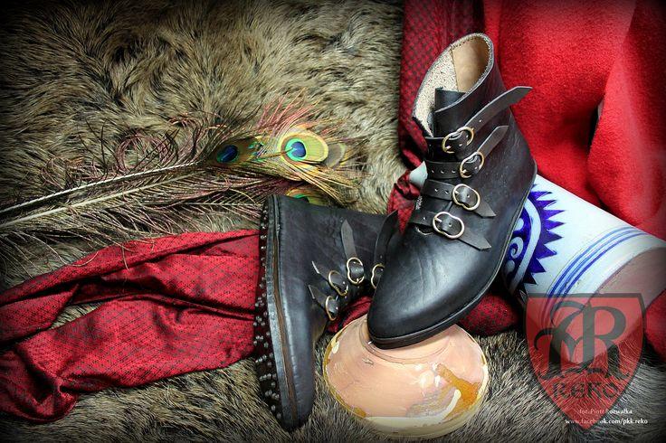 Leather medieval shoes www.facebook.com/pkk.reko