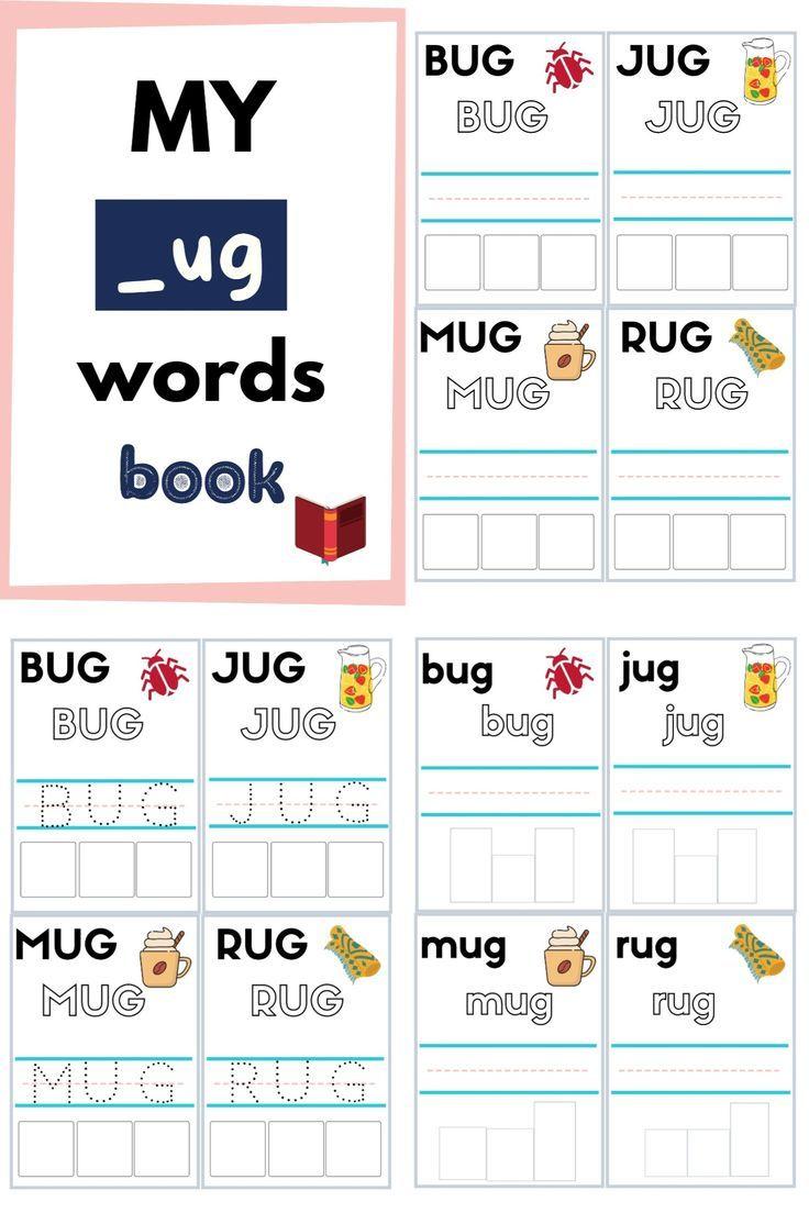 No Prep 3 Letter Cvc Words Upper Lower Case Ug Words Reading Writing Cvc Words Letters For Kids Cvc Word Families [ 1104 x 736 Pixel ]