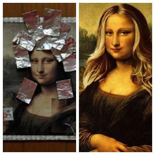 Even Mona Lisa want ombrehair ;) #monalisa #hairlights #newone #fashionhair #