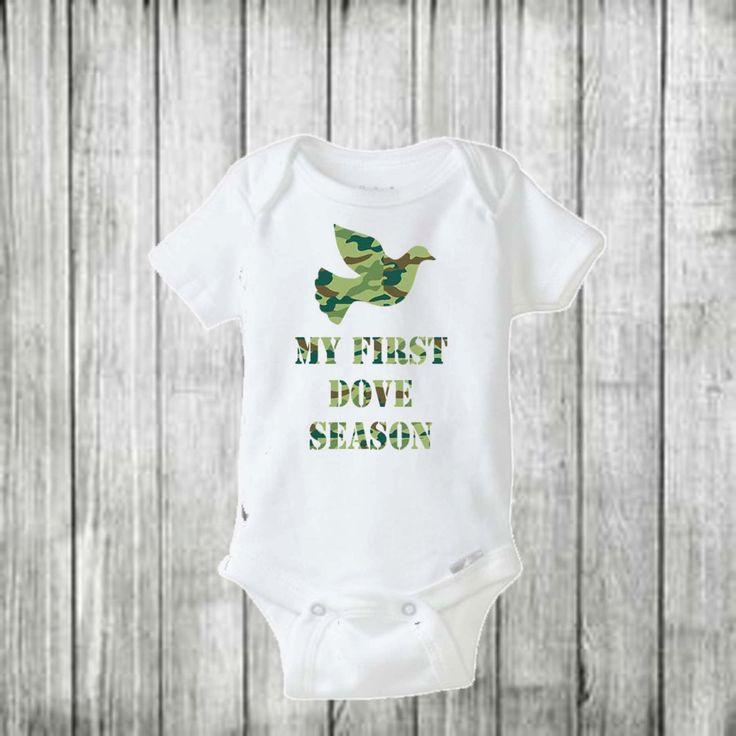 My First Dove Season/ Baby boy onesie/ Baby boy outfit/ Camo baby boy onesie…