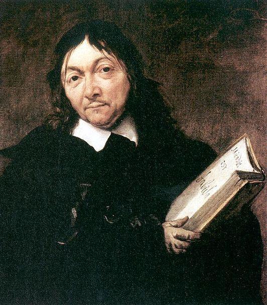 """René Descartes (1596-1650) was een Franse filosoof en wiskundige die in (onder andere) Stockholm leefde, daar is hij ook overleden. Hij is wel in Frankrijk geboren, in la Haye. Hij vond dat je aan alles moet twijfelen want dan ben je pas mens. """"Cogito ergo sum"""", ik denk dus ik ben. Ieder mens kijkt anders naar de wereld, als je nadenkt dan is dat het begin van de wetenschap."""