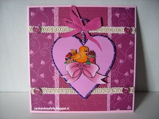 card for the sketch challenge on the Outlawz, april 17th, papers from Touched by a butterfly, image from Beary wishes.