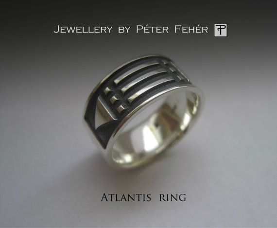 Sterling Silver Atlantis Ring Silver Jewelry by egszeresz on Etsy