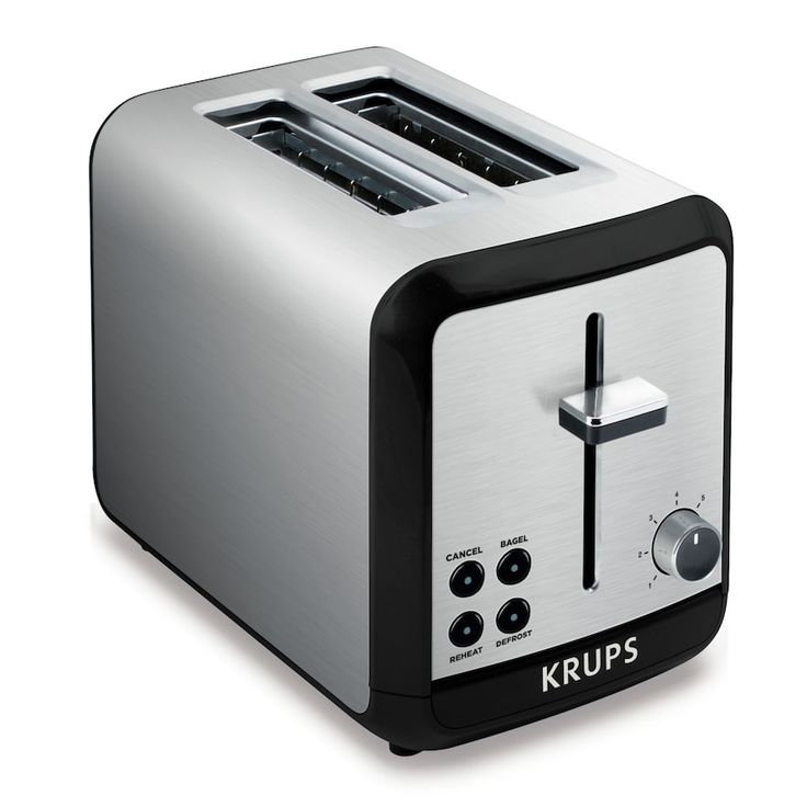 Krups Savoy 2-Slice Stainless Steel Toaster, Multicolor